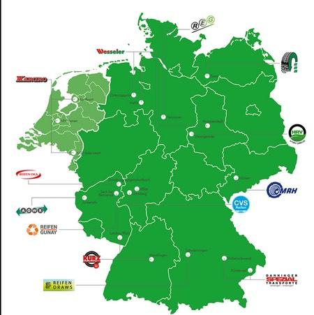 Karte der ZARE-Standorte (Grafik: ZARE)