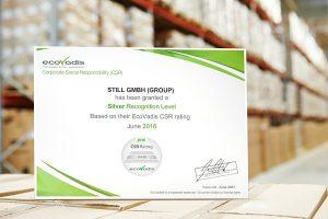 STILL erhält weltweit anerkanntes Nachhaltigkeitszertifikat von EcoVadis (Foto: STILL GmbH)