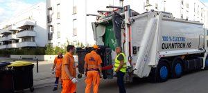 FES testet vollelektrisch angetriebenes Abfallsammelfahrzeug der Firma Quantron
